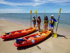 Kayak the crystal clear waters of Ningaloo in Cape Range National Park