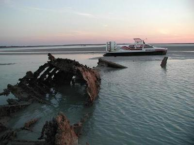 Watch the sunset on a Broome Hovercraft tour