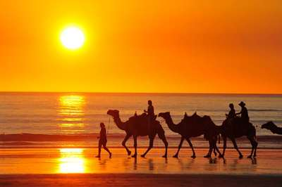 Start your tour in Broome with the stunning Cable Beach