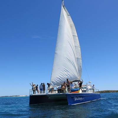 Enjoy a day out on a  luxury Sailing Catamaran in Exmouth Western Australia