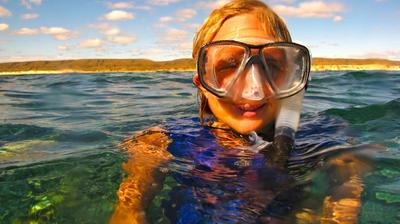 Snorkel and swim with humpback whales in Exmouth Western Australia