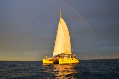 Watch the sunset over the Indian ocean on a Fremantle Twilight sailing tour