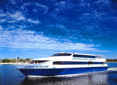 Enjoy lunch on board captain cook cruises and a day exploring Fremantle with Fremantle Tram Tours