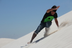 Try sandboarding in Lancelin Western Australia on a full day tour from Perth