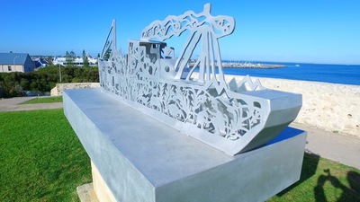 War memorial in Fremantle, Perth is a popular place to visit