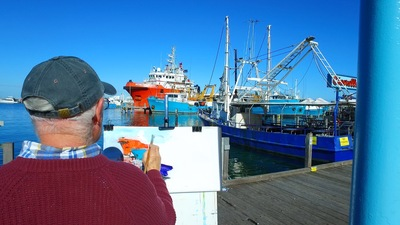 Artists love Fremantle because of its maritime history and organic beauty.