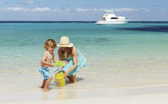 Family fun on Rottnest Island especially with the safe beaches and quiet holiday makers.