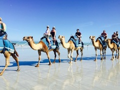 Beautiful Cable Beach with a Camel Ride is a must do when you visit Broome with Sightseeing Pass Australia
