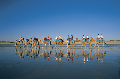 Stunning Cable Beach and it famous Camel Rides can be booked with Sightseeing Pass Australia