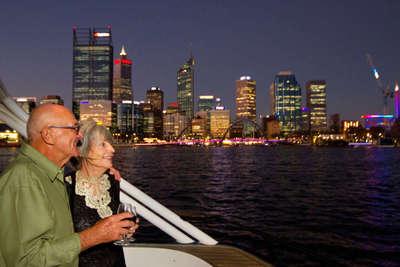 Perth City Lights put on a great show at night especially with a Dinner Cruise