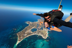Skydiving is the latest way to see Rottnest Island