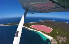 A scenic flight over Western Australia's famous Pink Lake can be booked today with Sightseeing Pass Australia