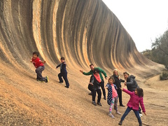 A great trip for the family visiting Wave Rock