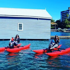 Enjoy a fun tour with friends on a Perth Waterbike Adventure.  Book online to avoid missing out on this new popular tour.  Visit Sightseeing Pass Australia for availability and costs.