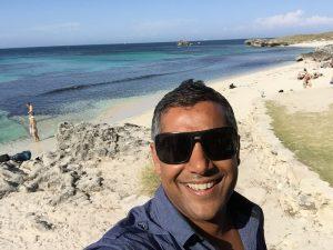 Chad D'Souza on Rottnest Island, Western Australia